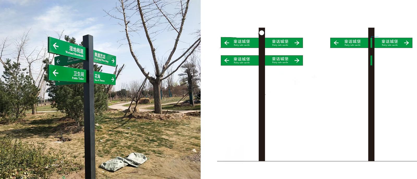 公园导视标识,公园标识牌,公园导向标识