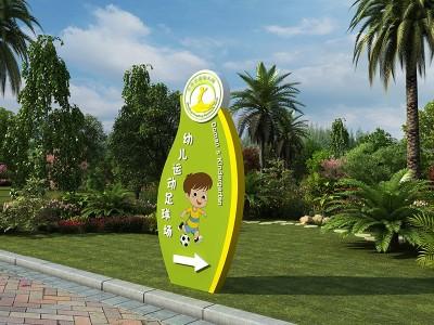幼儿园导视系统标识牌的位置应该如何设定