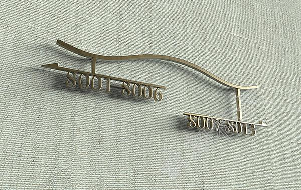 酒店标示牌