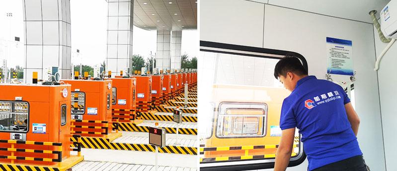 前期标识为航空港区收费站提供市政标识标牌产品