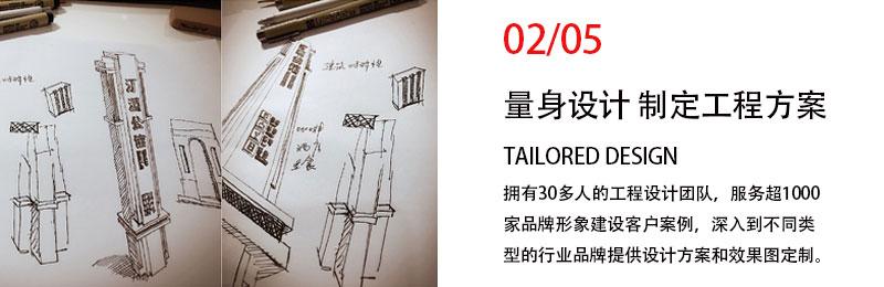 前期标识为锦艺城提供商业标识标牌产品