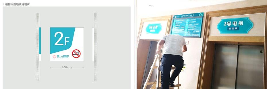 楼层号码及电梯牌