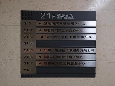 办公写字楼都有哪些标识牌