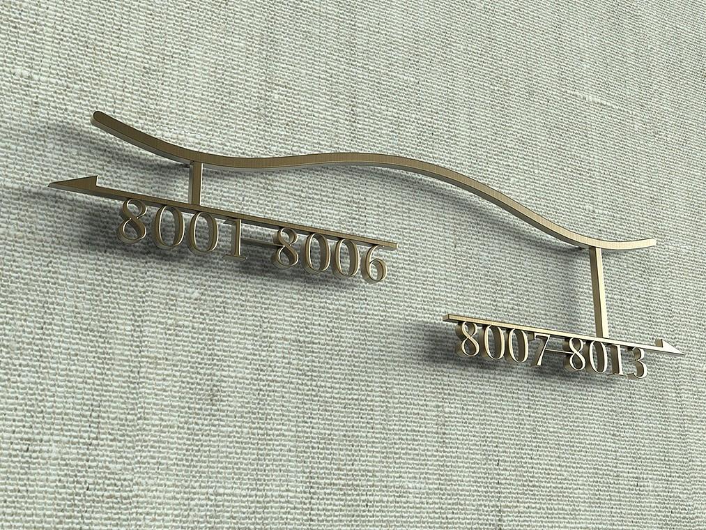 酒店房间标识